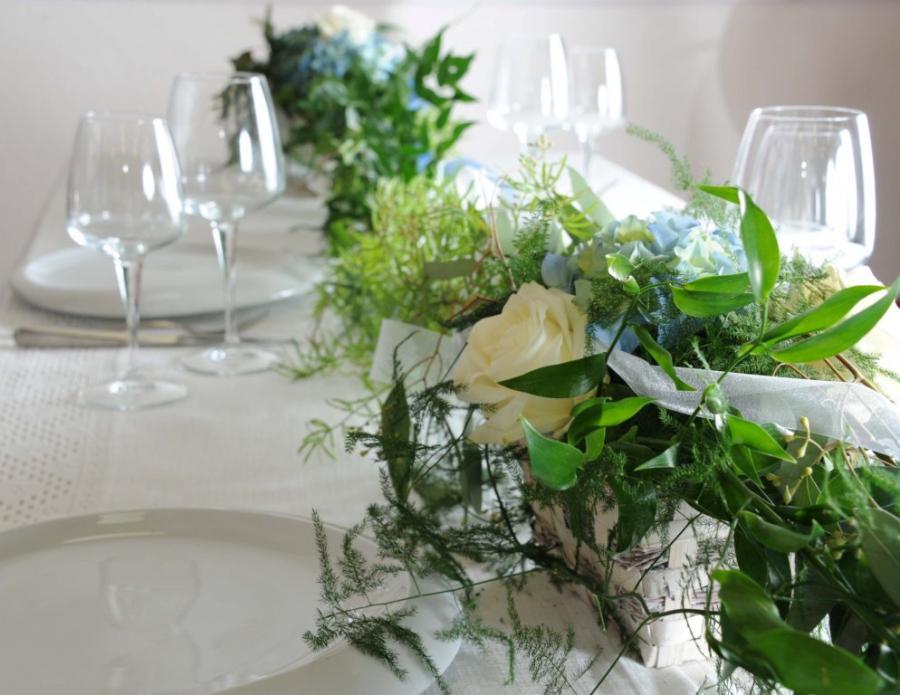 Tischdeko, Tischschmuck, Hochzeit, Hochzeitsfloristik, Heidelberg